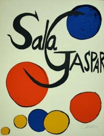 Litografía Calder - Cartel Sala Gaspar