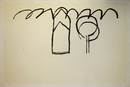 Aguatinta Hernandez Pijuan - Cases i arbres 1