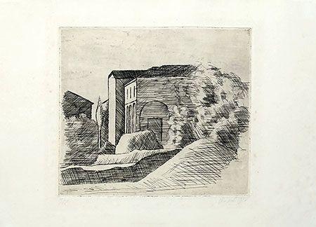 Grabado Morandi - Casetta
