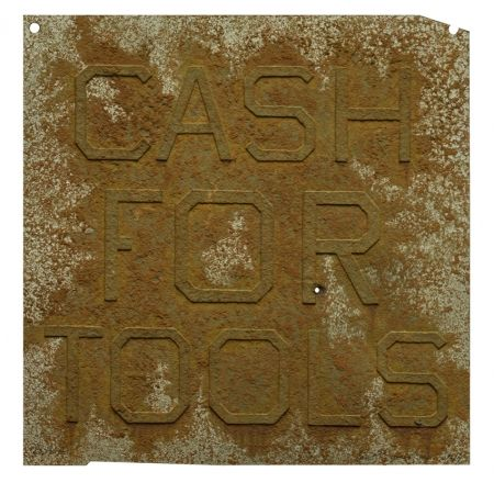 Múltiple Ruscha - Cash For Tools 2, from Rusty Signs