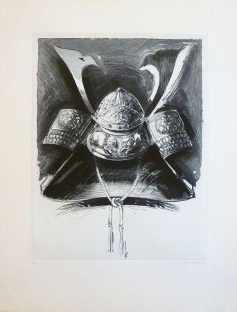 Aguafuerte Y Aguatinta Titus Carmel - Casque de Nikko 2