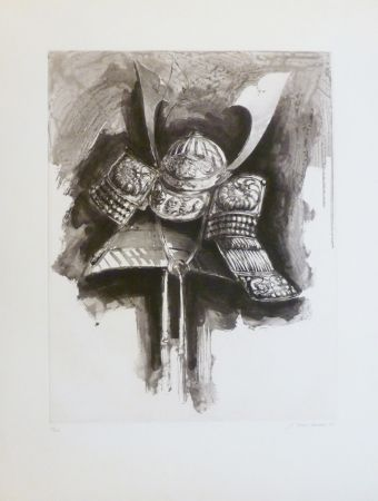 Aguafuerte Y Aguatinta Titus Carmel - Casque de Nikko IV