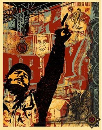 Serigrafía Fairey - Castro Collage