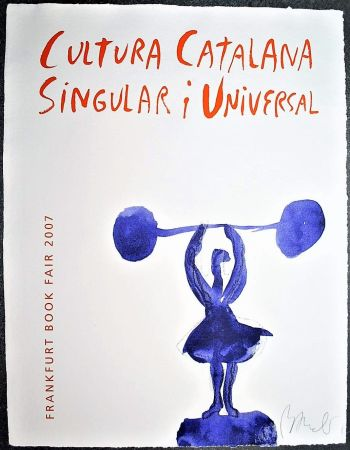 Litografía Barcelo - Catalan culture - Signed