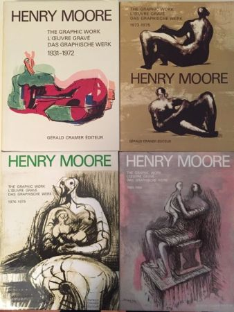 Libro Ilustrado Moore - Catalogue Raisonné of Henry Moore Graphic Work 1931 - 1984 (4 Volume Set)