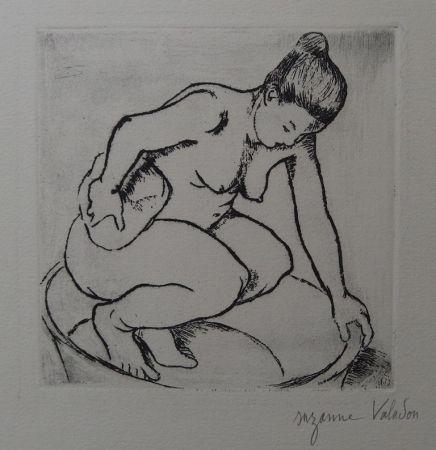 Grabado Valadon - Catherine au tub