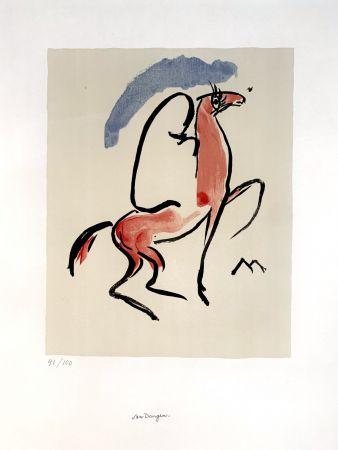 Litografía Van Dongen - Cavalier Arabe