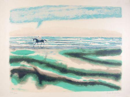 Litografía Brasilier - Cavalier sur la plage
