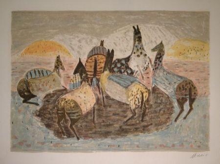 Litografía Music - Cavallini Che Giacano / Spielende Pferde