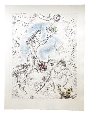 Aguafuerte Y Aguatinta Chagall - Ce lui qui dit les choses sans rien dire (Plate 22)