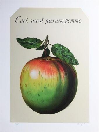 Litografía Magritte - Ceci n'est pas une pomme (this is not an apple)
