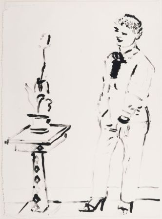 Litografía Hockney -  Celia Amused