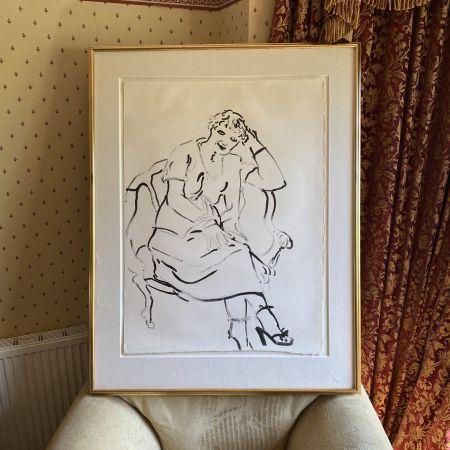 Litografía Hockney -  Celia Inquiring