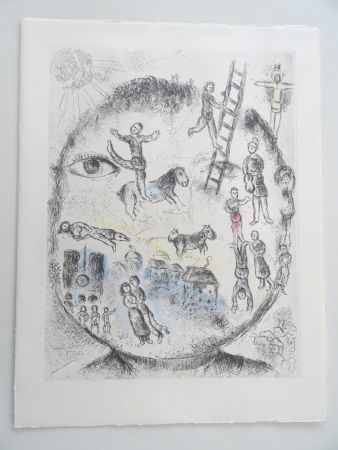 Aguafuerte Y Aguatinta Chagall - Celui qui dit les Choses sans rien dire, planche 528