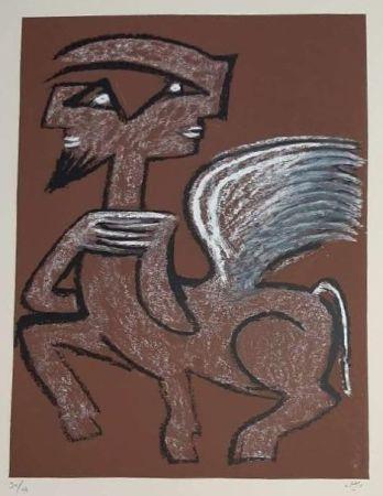Serigrafía Matta - Centaur Hemaphrodite