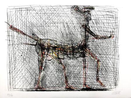 Litografía Cesar - Centaure - Hommage à Picasso