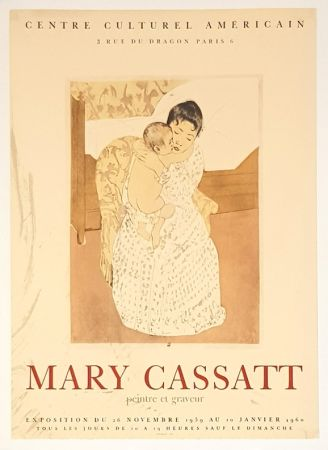 Litografía Cassatt - Centre Culturel  Americain