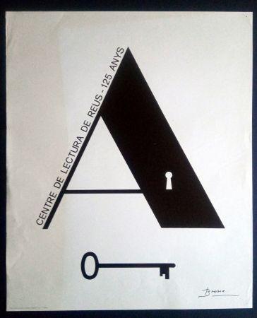 Cartel Brossa - Centre de Lectura de Reus - 125 anys - 1984