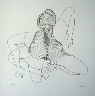 Aguafuerte Bellmer - Cephalopode double