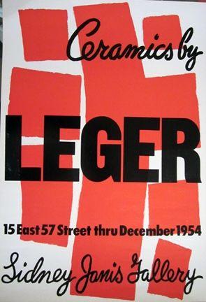 Litografía Leger - Ceramics by Leger, Sidney Janis Gallery