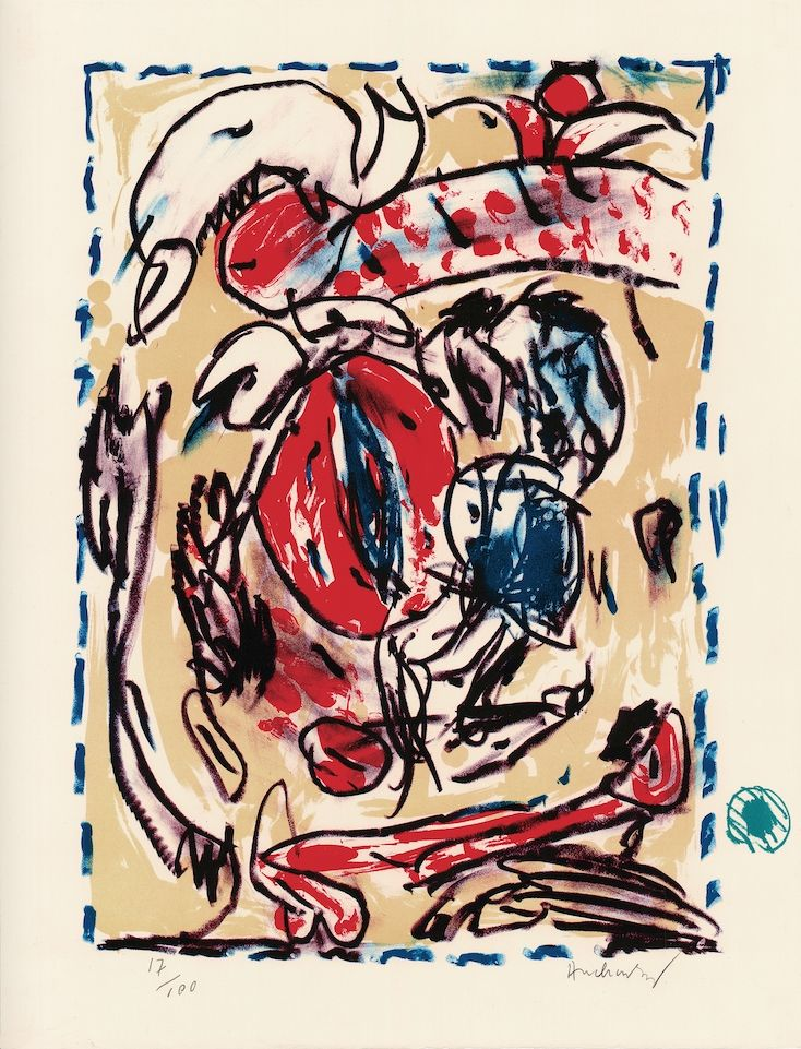 Litografía Alechinsky - Cerclitude
