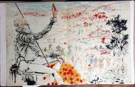 Libro Ilustrado Dali - Cervantès : DON QUICHOTTE DE LA MANCHE (12 lithographies originales).
