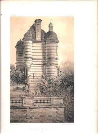 Litografía Petit - Châteaux de France des XV et XVIe siècles par Victor Petit