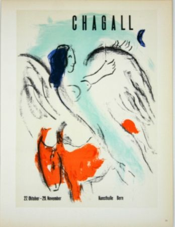 Litografía Chagall - Chagall  Kunsthalle  Bern  1957