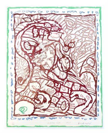 Litografía Alechinsky - Champ clos