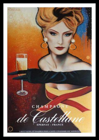 Cartel Razzia - CHAMPAGNE DE CASTELLANE - EPERNAY FRANCE