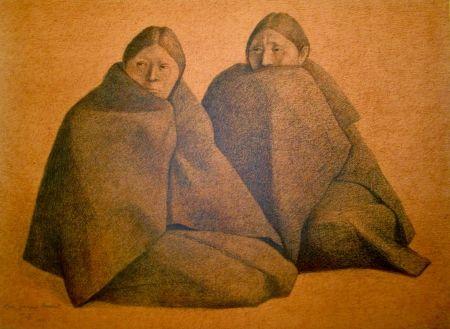 Litografía Zuniga - Chamulas (Red)