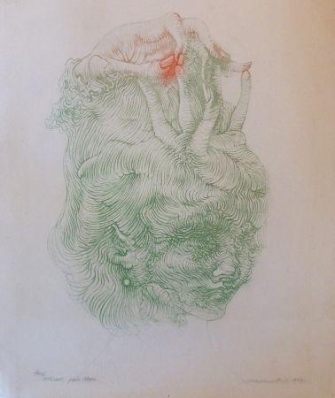 Litografía Bellmer - CHAPEAU MAIN