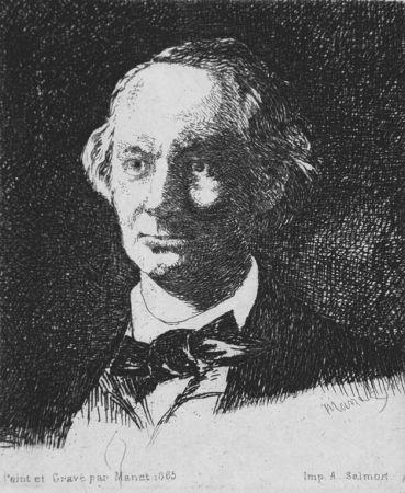 Aguafuerte Manet - Charles Baudelaire de face