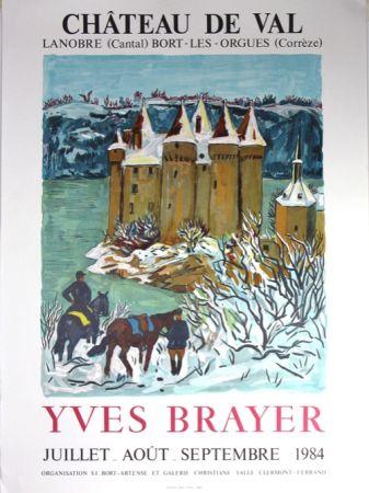 Litografía Brayer - Chateau de Val