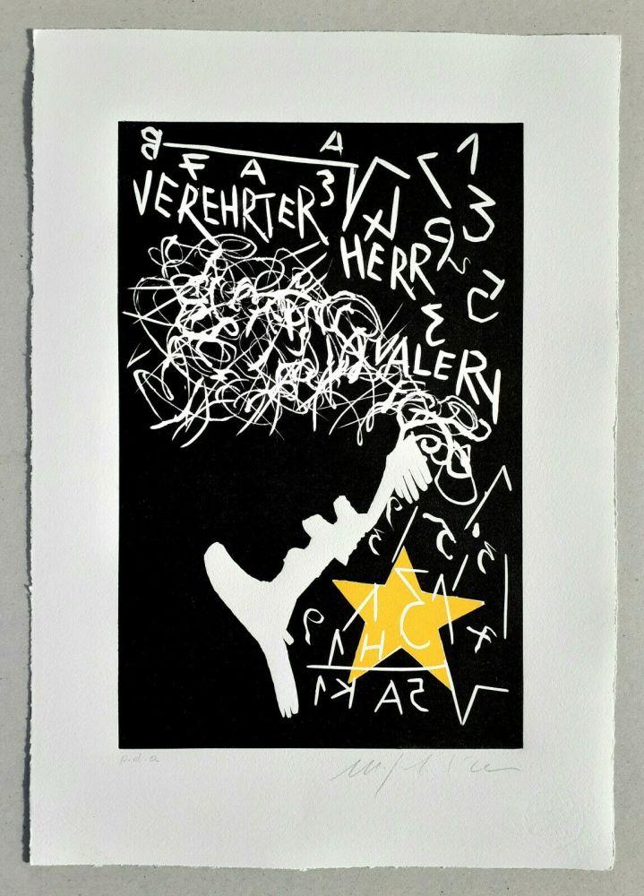 Linograbado Paladino - Cher monsieur Einstein
