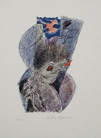 Litografía Masson - Cheval