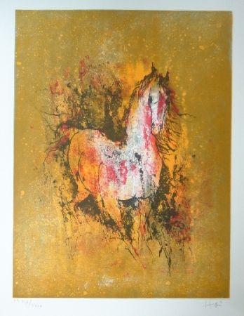 Litografía Lebadang - Cheval au reveil