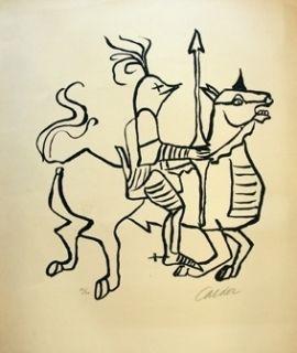 Litografía Calder - Chevalier