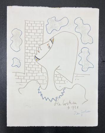 Litografía Cocteau - Chevaliers de la table ronde