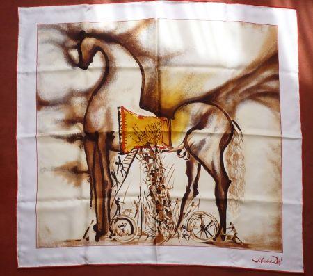 Serigrafía Dali - Chevaux daliniens - Cheval de Troie
