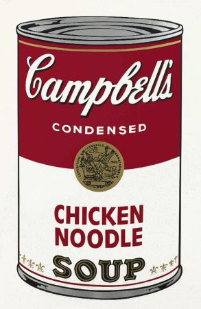 Serigrafía Warhol - Chicken Noodle Soup, from the Campbell's Soup Series