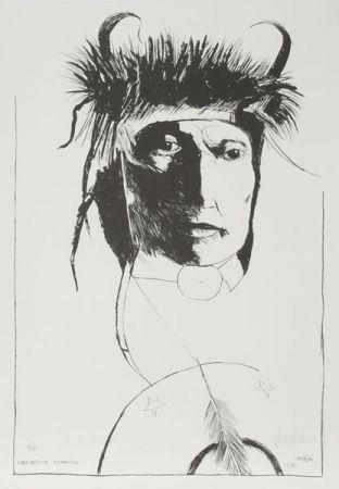 Litografía Baskin -  Chief Wets It - Assinnboine