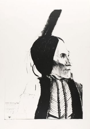 Litografía Baskin - Chief White Man / Kiowa