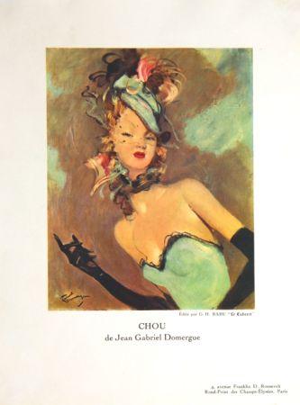 Litografía Domergue - Chou