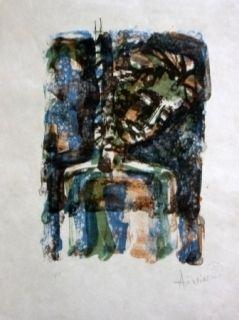 Litografía Aizpiri - Christ