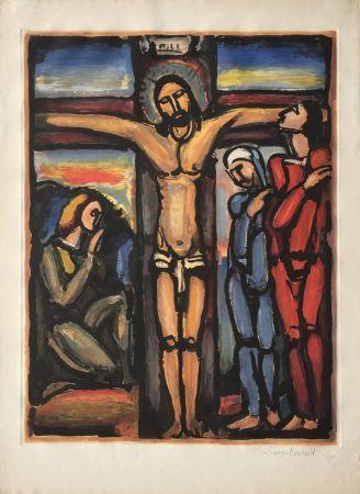 Aguafuerte Y Aguatinta Rouault - Christ en Croix