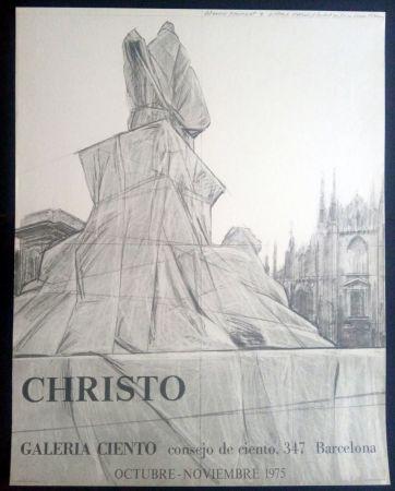 Cartel Christo - Christo - Galeria Ciento 1975
