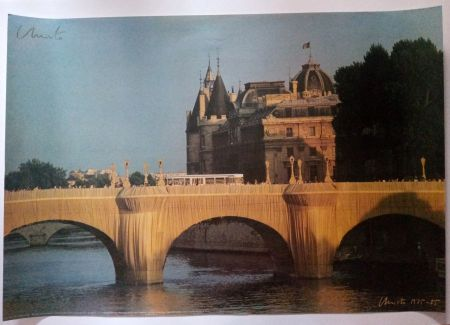 Cartel Christo - Christo's Wrapped Pont Neuf Paris - Handsigned