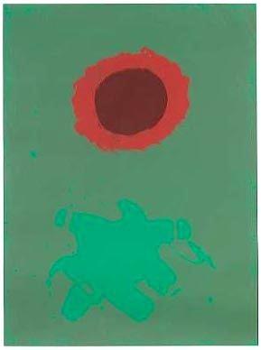 Serigrafía Gottlieb - Chrome Green (1972)