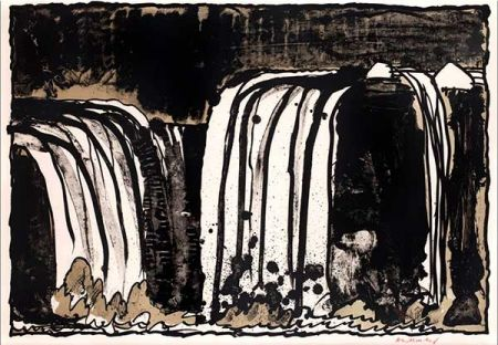 Litografía Alechinsky - Chute blanche